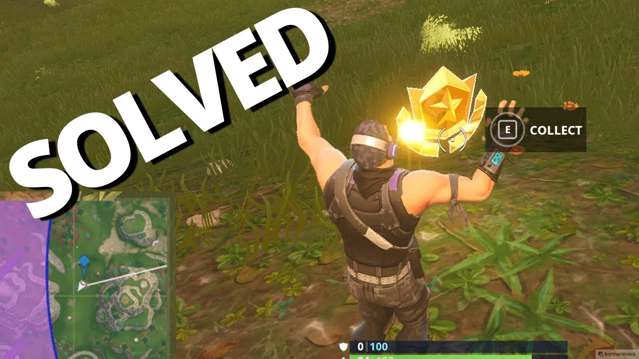 Fortnite Follow The Treasure Map Found In Snobby Shores Solved