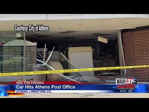 Car Runs Into Athens Post Office