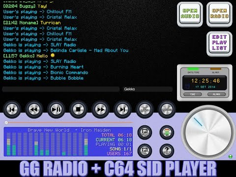 GG Radio Alarm + SID Player : How to enable the C64 SID player in my radio.