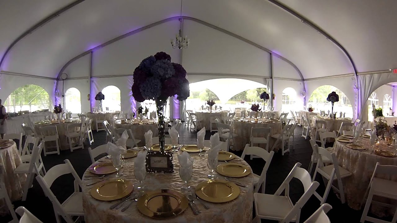 & Wedding Reception inside a beautiful tent - YouTube