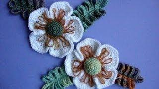 Как вязать цветок Вязание крючком Урок 24 Crochet flower pattern(Подписаться на все новые видео-уроки по емайл: http://feedburner.google.com/fb/a/mailverify?uri=knittingforbeginners/video ..., 2013-05-14T13:12:28.000Z)