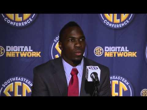 2013 SEC Football Media Days - CJ Mosley - Alabama LB