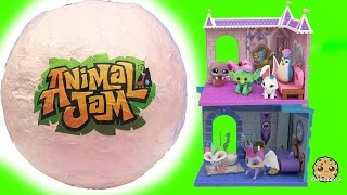 Giant Surprise Ball of Animal Jam Online Game Toys - Princess Castle + Crystal Palace Den + Codes(Wow this big ball is filled with Animal Jam surprises! Super cool dens with limited edition pets. Each set comes with scratch and redeem codes for the Animal ..., 2016-09-01T19:17:47.000Z)