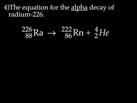 Radioactive Decay & Nuclear Equations