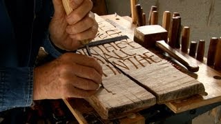 "Martin Wenham: ""Silent Voices"" short film about letter carver"