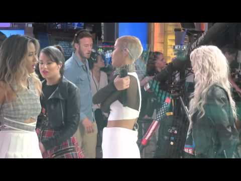 G.R.L inside Good Morning America to perform Ugly Heat live