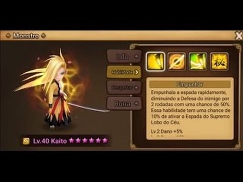 Summoners War (PT-BR) - Wind Samurai (Kaito) Review/Test Drive
