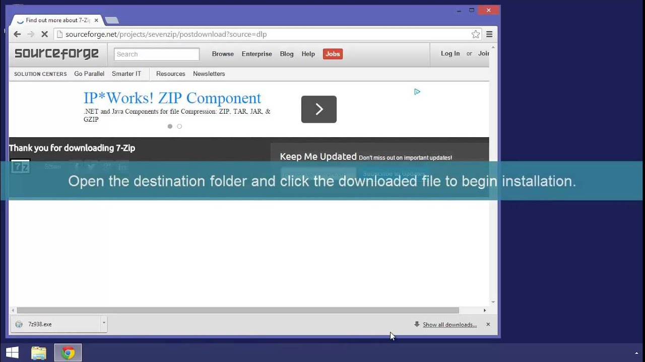 Get 7-Zip for Windows 8