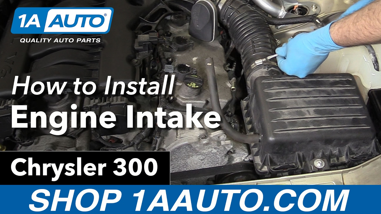 Engine Take Off : How to remove reinstall engine intake chrysler