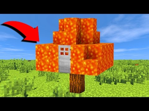 CASA DE LAVA INVISIVEL NUMA ARVORE (TREE HOUSE MINECRAFT)