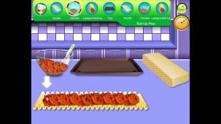Cooking Game Video-sara's Cooking Class  Chicken Lasagna Roll Ups