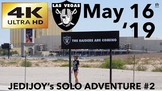 4K Las Vegas Raiders Stadium Construction Update: 9th and 10th Trusses Up May 16th 2019