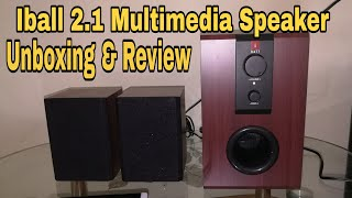 iBall 2 1 Raaga Q9 Multimedia Speaker - Unboxing amp Sound test Review