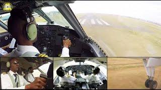 ALS Dash 8 ULTIMATE COCKPIT MOVIE 2/2: Refugee flight Kakuma-Wilson! [AirClips full flight series]