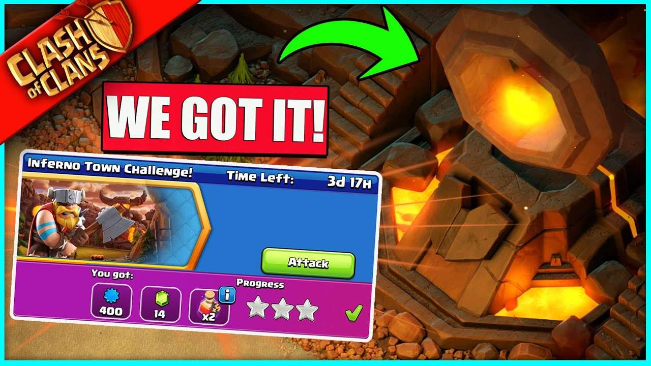 HOW TO 3 STAR THE INFERNO TOWN CHALLENGE!! ▶️ Clash of Clans ◀️ THE OP UPDATE IS FINALLY HERE