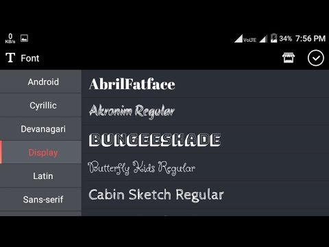 How to download fonts with kinemaster on android