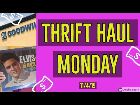 GOODWILL THRIFT HAUL | Thrift Haul Monday | 11/4/19 Edition | Trash Into Cash | Goodwill Outlet Bins