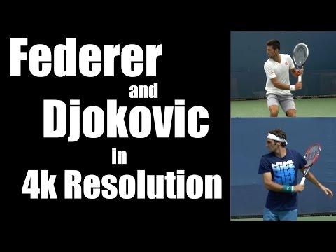 Roger Federer and Novak Djokovic in 4k Resolution - Cincinnati 2014