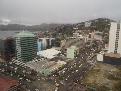 Driving through Downtown Port Moresby