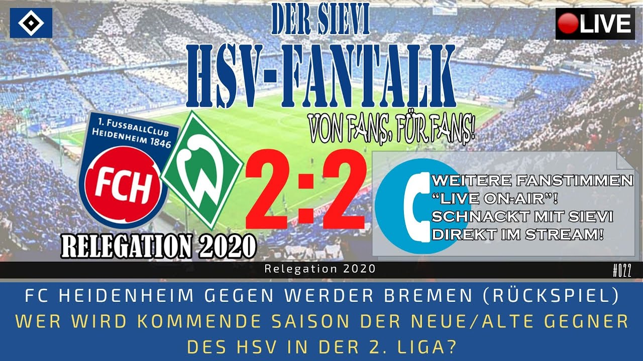 FC Heidenheim gegen Werder Bremen 2:2 - Relegation 2020 - LIVE MATCH-REACTION | #022