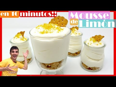 Mousse De LIMÓN 🍋  Fácil Y En Menos De 10 Minutos [ Te Encantará ] 🍋🍋🍋