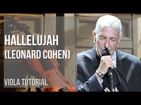 How to play Hallelujah by Leonard Cohen on Viola (Tutorial)