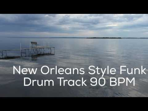New Orleans Style Funk Drum Track 90 BPM