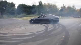 Black Bmw M3 E46 Drift
