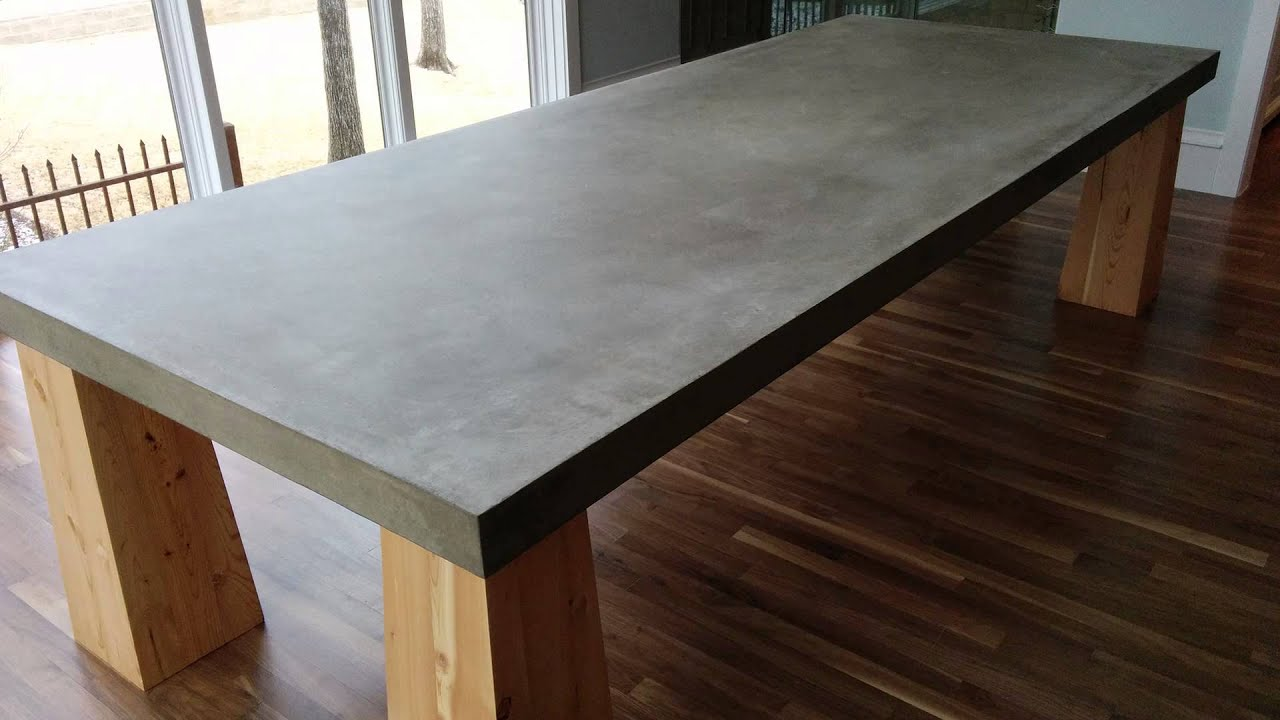"""""""Gather Around"""" -- A cement table top in Dallas, TX - YouTube"""