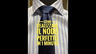 come realizzare il nodo perfetto alla vostra cravatta by Fabio Porta dresscode boutique e sartoria
