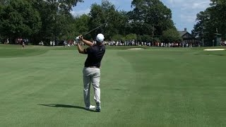 Ryan Moore flirts with a hole-out eagle at the TOUR Championship