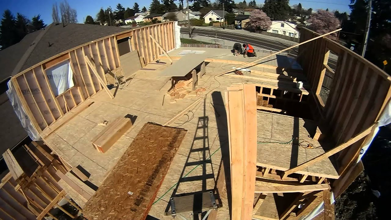 New house framing time lapse - YouTube