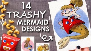 "DRAWING 14 ""TRASHY"" MERMAIDS - Tokyo Treat Unboxing"