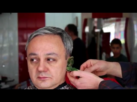 ASMR TURKISH BARBER : HAİRCUT, HAİR COLORİNG, EAR CLEANİNG, FACE, HEAD & BACK MASSAGE (ASMR SOUNDS )