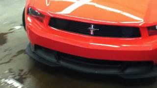 2012 Ford Mustang Boss 302 Start, Rev, Pull Away