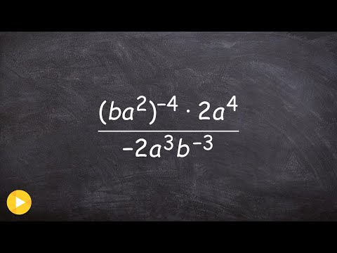 Simplify a rational expression using rules of exponents