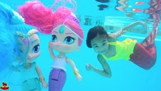 Magic Mermaids Shimmer and Shine Unboxing | Toys Academy thumbnail