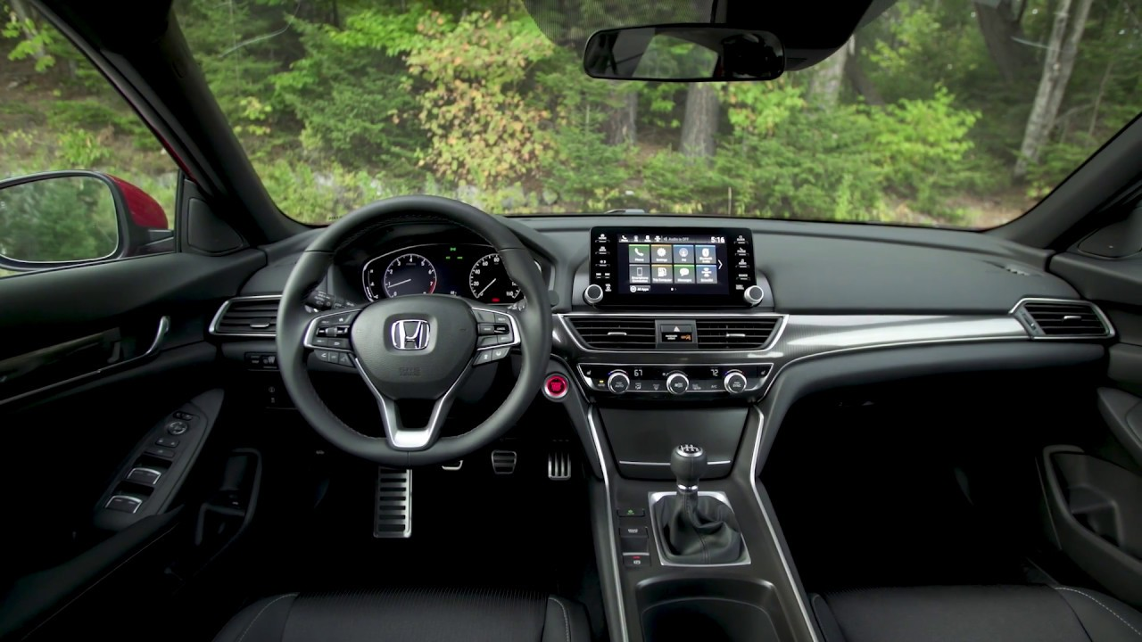 2018 honda accord sport 2 0l interior design youtube. Black Bedroom Furniture Sets. Home Design Ideas