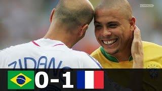 франция - Бразилия 1-0 - Обзор Матча Четвертьфинал Чемпионата Мира 01/07/2006 HD