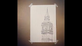 연필 드로잉, drawing london city,  …