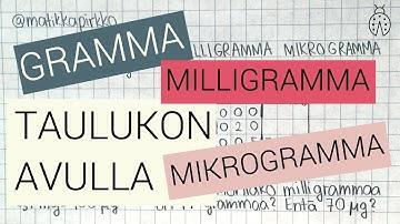 Mikrogramma Taulukko