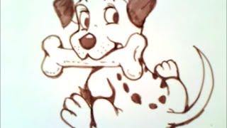 как рисовать щенка