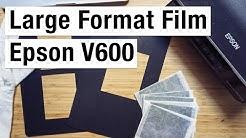 Scanning Large Format Film on Epson V600
