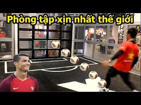 Thử Thách Bóng Đá World Cup 2018 sút Penalty như Ronaldo với phòng tập giả lập 360s đẹp hơn PVF