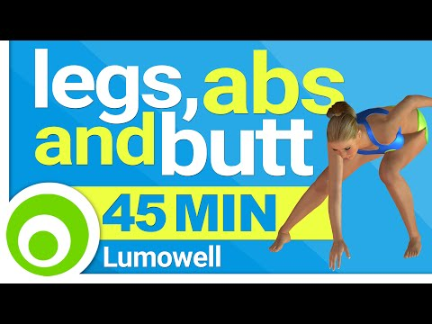 LAB Fitness Workout, 45 Minutes - Legs, Abs and Butt