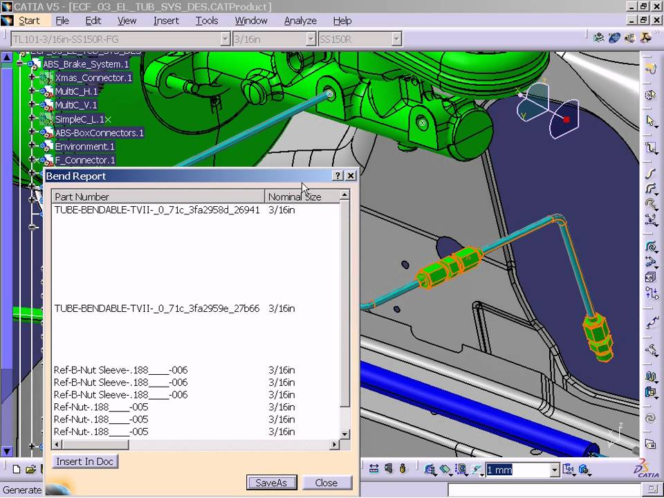 CATIA V5 - Tubing Schematic to Design (TUE) - YouTube
