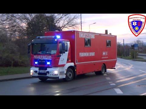 🚨 MLF Feuerwehr Erfurt-Schmira + ELW 2 Berufsfeuerwehr Erfurt FW 1