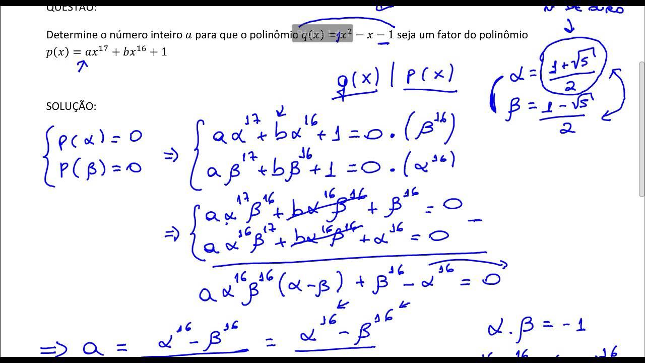 Exercicios Resolvidos Expressoes Algebricas E Polinomios
