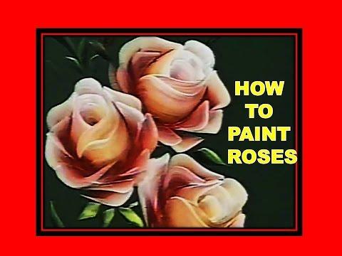 How To Paint Roses - Folk Art - One Stroke Luz Angela´s Technique