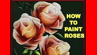 How To Paint Roses - Folk Art - One Stroke Luz Angela´s Technique